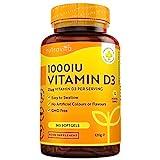 Vitamin D3 1000 IU (Cholecalficerol) - 365 Kapseln - Vitamin D3 aus Deutschland - ohne künstlichen Zusatzstoffe - Hohe Reinheit - Hochdosiert - Premium Qualität - 25μg Vitamin D3 pro Kapsel