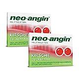 neo-angin Halstabletten Kirsche zuckerfrei | Sparset mit 2 x 24 Stück | Lutschtabletten bei beginnenden, lästigen Halsschmerzen | Für Erwachsene & Schulkinder