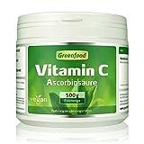 Vitamin C, 500 Gramm Pulver – für bärenstarke Abwehrkräfte, gesunde Zähne und Zahnfleisch, starkes Bindegewebe. Garantiert OHNE Gentechnik. Ohne künstliche Zusätze. Vegan.
