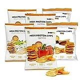 Supplify Protein Chips (Mix Box) - Eiweiß Snack zum Abnehmen oder Muskelaufbau - die leckere Alternative zu Protein-Pulver oder -Riegel (6x50g)