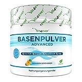 Basenpulver auf Citratbasis - 360 g (72 Portionen) - Extra hochdosiert: Mit Magnesium, Zink, Kalium, Calcium - Basenfasten - Mit Orangen Geschmack - Vegan