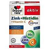 Doppelherz Zink + Histidin + Vitamin C DEPOT – mit Zink als Beitrag für die normale Funktion des Immunsystems – 1 x 30 Tabletten