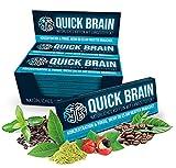 Quick Brain Koffeintablette mit 80mg Koffein aus natürlichen Quellen wie Mate, Guaraná, Grüntee & Kaffeebohnen, 70 Tabletten