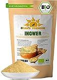 INGWERPULVER BIO 500g   Ingwer gemahlen 100 % naturbelassen   Bio Ingwerpulver in Premium Qualität aus Indien   abgefüllt in Deutschland (DE-ÖKO-006)   Dean's Premium *EINFÜHRUNGSPREIS*