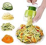 SZJH Hand-Spiralschneider Gemüseschneider, 4-in-1 robuster Gemüse-Spiralschneider – Zucchini-Nudel- und Gemüse-Nudel- und Spaghetti-Maker für kohlenhydratarme / Paleo- / glutenfreie Mahlzeiten