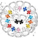 Weewooday Nasenklammern zum Schwimmen, wasserdicht, Silikon, für Erwachsene und Kinder ab 7 Jahren, 8 Farben