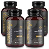 Softgel Kapseln 60000 MG, mit Kurkuma 95% Curcuminoiden und schwarzem Pfefferextrakt, fortschrittliche Absorption Vegan Friendly Formula -- Omega 3-6-9 (240 Softgels)