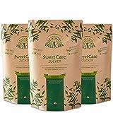 SweetCare PREMIUM Kristallzucker – 3 x 1kg - Zuckerersatz – 100% Vegan – keine Kalorien – Low Carb – mit Erythritol und Stevia – Made in Germany