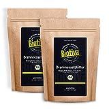 Brennnesselblätter-Tee Bio 1000g (2x500g) - Brennesseltee - lose Blätter - 100% Bio Brennnessel-Kräuter - Abgefüllt und kontrolliert in Deutschland (DE-ÖKO-005)