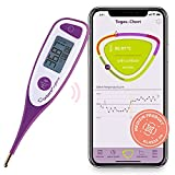 cyclotest mySense Basalthermometer Bluetooth zur Zykluskontrolle, Kinderwunsch oder natürliche Verhütung - NFP Thermometer Bluetooth mit App ohne Abo