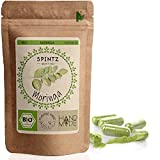 SPINTZ 260 Stk. Bio Moringa Kapseln - hochdosierte Moringa Tabletten - 500mg Moringapulver aus biologischem Anbau - vegan - natürliches Superfood - Moringa gemahlen | plastikfrei verpackt