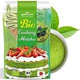 Matcha Pulver Bio zum Backen - Original Japanischer Matcha for Cooking in bester Culinary-Qualität. Ideal zum Backen, für Smoothies, Shakes, Matcha Latte, Eis und Gebäck (50g)