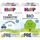 HiPP Bio Milchnahrung PRE Combiotik, 4er Pack (4 x 600 g) & Bio Milchnahrung Pre, 4er Pack (4 x 600 g)