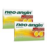 neo-angin Benzydamin gegen akute Halsschmerzen   Sparset mit 2 x 20 Stück   Lutschtabletten mit Zitronengeschmack für Erwachsene & Schulkinder   zuckerfrei