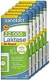 sanotact Laktase 22.000 Depot • 6x40 Laktose Tabletten mit Sofortwirkung und 6h Depot • Lactosetabletten bei Laktoseintoleranz + Milchunverträglichkeit