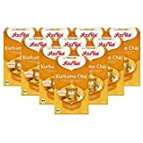 Yogi Tee 10x Kurkuma Chai Bio YOGI TEA® I leckere ayurvedische Gewürz-Tee-Mischung - perfekt geeignet für Goldene Milch I 170 Tee-Beutel - echte Bio-Qualität I Bio Chai Kurkuma Tee 10 Päckchen