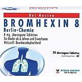 BERLIN-CHEMIE BROMHEXIN 8 Tabletten bei Husten, 50 St. Tabletten