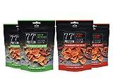 Grillido Protein Chips 4er Mixpack   78% Eiweiß Nur 9% Fett   Eiweißreiche Paleo Snack Alternative zu Proteinriegel