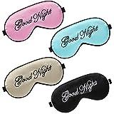 4 Stücke Seide Schlafmasken Augen Abdeckung Masken Weiche Leicht Augenbinde Augen Maske Schlafen Augenblinder Verstellbar Riemen Satin Augen Schlafmaske für Frauen und Männer