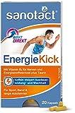 sanotact EnergieKick Kapseln • 20 Energie Kapseln als Energie Booster • Koffeintabletten mit Taurin+Vitamin B2 • Wachmacher bei Müdigkeit & für mehr Energie