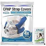 RespLabs CPAP Kopfband Abdeckungen – 4er-Pack Universal – Kompatibel mit AirFit F20, F10, P10, N20, DreamWear, Wisp, ResMed, Philips Respironics Masken