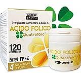 Quatrefolic Folsäure 120 Tabletten aus Folsäure in Biologisch aktiver Form, bis zu dreimal höhere Absorption | für Schwangerschaft und Fertilität, reduziert Ermüdung | Agocap Pharma