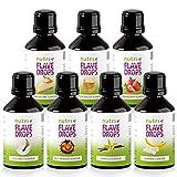 Flave Drops Mix 7er Set - Aromatropfen ohne Kalorien - FlavDrops zum Backen & Süßen von Speisen - Flavor Drop Vegan Flavour - in Deutschland hergestellt