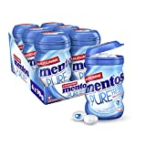 Mentos Kaugummi Pure Fresh Mint, 6er Box Kaugummi-Dragees, Pfefferminze-Geschmack, zuckerfrei