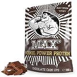Whey Protein Eiweißpulver Lower Carb | Protein Pulver Muskelaufbau & Abnehmen | Protein Shake Whey | Eiweiß-Shake als Mahlzeitersatz & Sportnahrung | MAX MUSKEL POWER PROTEIN (Schokolade 1kg)