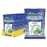 Ricola Aktiv-Frei Menthol, Schweizer Hustenbonbon, 18 x 75g Tüten, ohne Zucker, für ein freies Atemgefühl