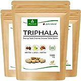 Triphala Presslinge 1000mg (360 oder 120 Stück) Ayurveda Königsfrüchte Amla (Amalaki), Hiritaki, Bibhitaki – Qualitätsprodukt von MoriVeda (3x120 Tabs)