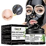 Charcoal Face Mask, Mitesser Maske, Peel off Maske, Blackhead Remover Maske, Bamboo Poren Anti Öl Kontrolle Reinigung Blackhead Maske, Peel Off Maske,Kontrolle Tiefenreinigung-200g