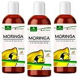 MoriVeda® - Moringa Öl Basic 300ml , gepresst aus Oleifera Samen und Schoten, für Hautpflege, Haarpflege, Wundpflege, Anti-Aging (3x100ml)
