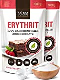 Erythrit 100% Erythritol reiner Zuckerersatz Süßungsmittel - wiederverschließbare Verpackung 2 kg