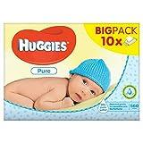 Huggies Pure Baby Feuchttücher, 10 x 56 Stück pro Packung