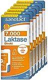 sanotact Laktase 7.000 Direkt • 6x90 Mini-Laktose Tabletten mit Sofortwirkung + hochdosiert • Bei Laktoseintoleranz + Milchunverträglichkeit
