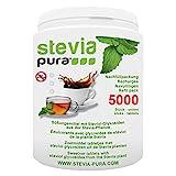 steviapura | Stevia Tabs Sparpackung - 5000 Stück Stevia Tabletten + GRATIS Dosierspender - 300g