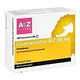 Eisentabletten AbZ 100 mg Filmtabletten bei Eisenmangel, 100 St. Tabletten