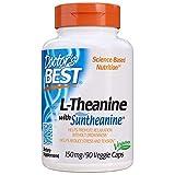Doctor's Best, L-Theanine mit Suntheanine, 150mg, 90 Vegane Kapseln | Glutenfrei | Gentechnikfrei | 3-Monatvorrat