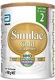 Similac Gold Folgemilch Phase 2 – Palmölfreie Babymilch mit HMO (Humanmilch-Oligosaccharide) ab 6 Monaten – 1 x 900 g
