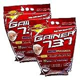 2x 3 kg MEGABOL Gainer 737 Whey Protein Big Packs | 3kg je Packung | Mass Gainer Eiweißpulver Aminosäuren Muskelaufbau | Nahrungsergänzungsmittel (2er Pack) (Erdbeere / strawberry)