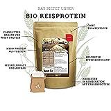 nur.fit by Nurafit BIO Reisprotein-Pulver 500g – Reiseiweißpulver aus kontrolliert biologischem Anbau mit über 80% Proteingehalt - natürliches veganes Proteinpulver ohne Zusatzstoffe – vegan Protein