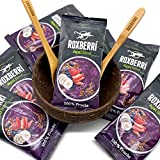 ROXBERRI® Acai Bowl Set - 15 x 150g Acai Püree + Coconut Bowl - 15 Smoothie Packs aus Acai Beeren - Superfood Brasilien - schnellere Zubereitung als Acai Pulver