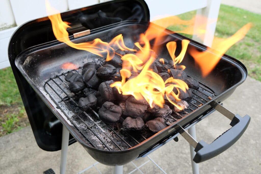 Nur Holzkohle oder Holzbriketts sind zum Grillen gedacht.