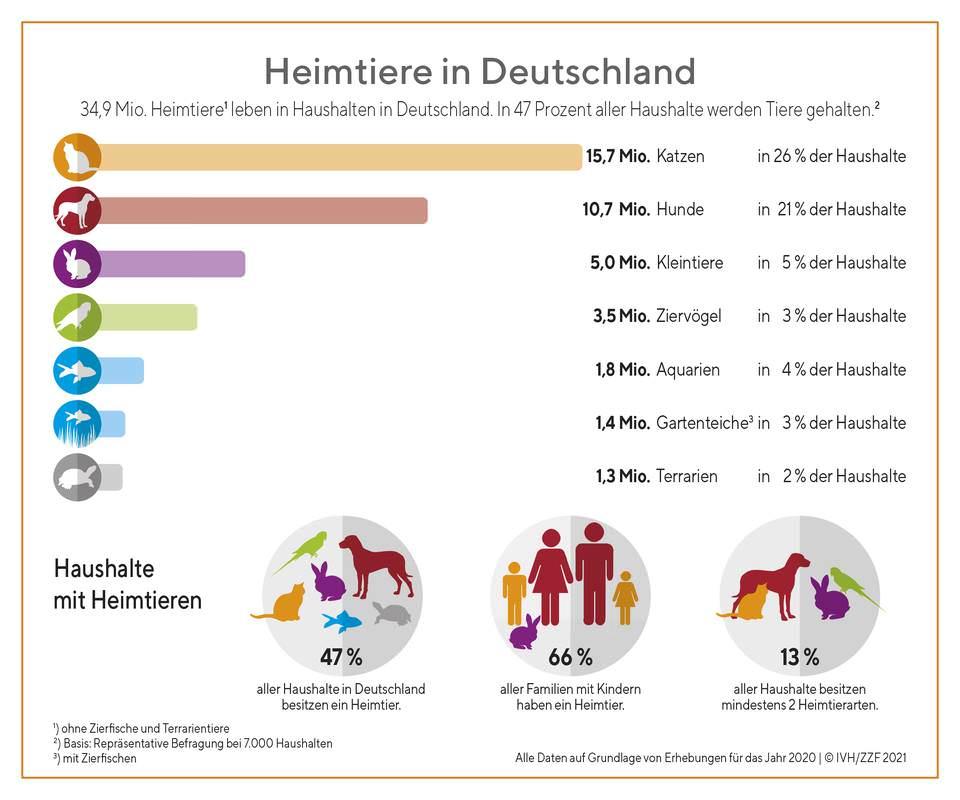 Anzahl Tiere in Deutschland