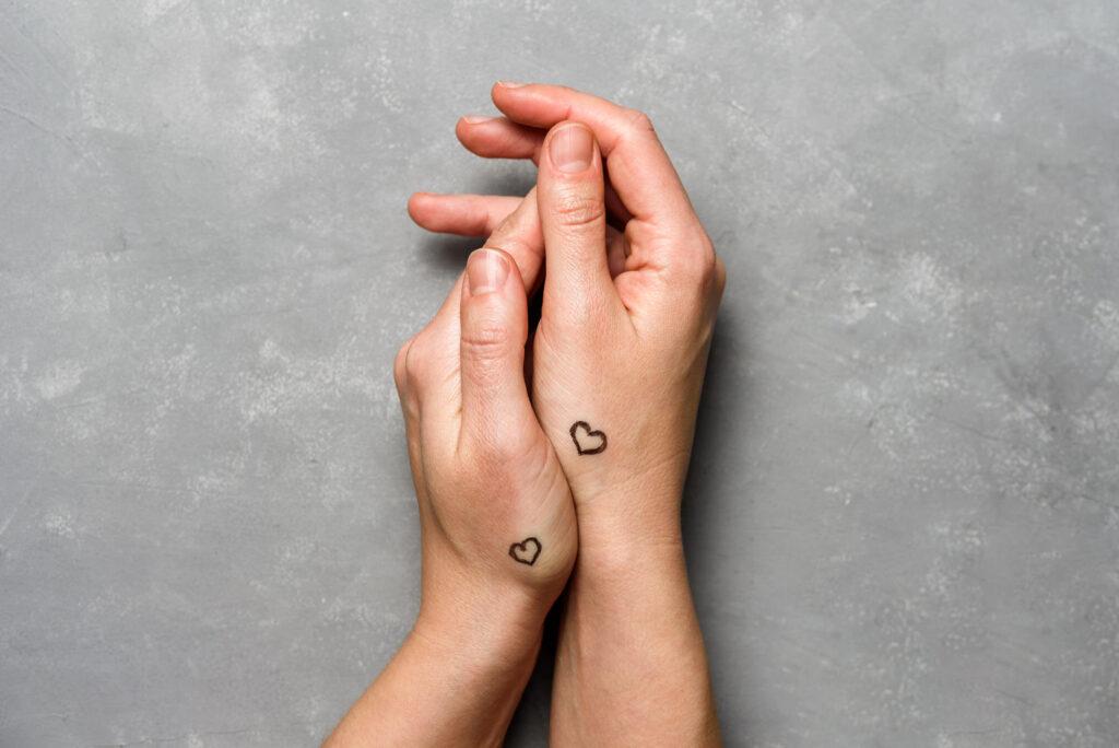 Tattoo-Herz-Paare-Ideen